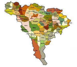 harta judet alba cu localitati
