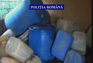 330 de litri de motorină ridicați de polițiști după o percheziție la Ampoița