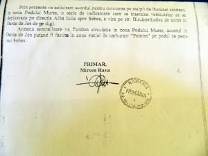 solicitare Primaria Alba Iulia indicator DN Oarda