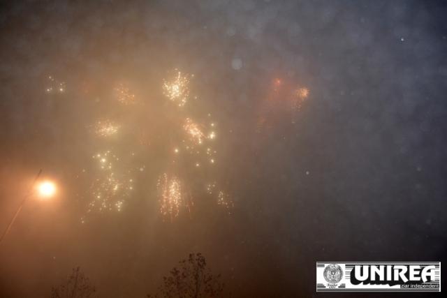 Artificii de revelion 2014 in Piata Cetatii Alba Iulia