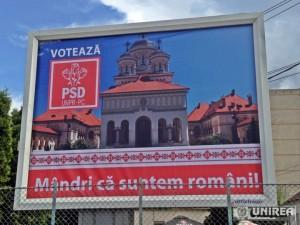 Catedrala Ortodoxa Alba Iulia _campanie electorala europarlamentare (1)