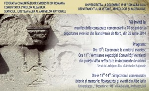 comemorare deportare evrei Alba Iulia