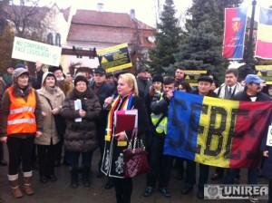 protest impotriva poluarii la Sebes1202