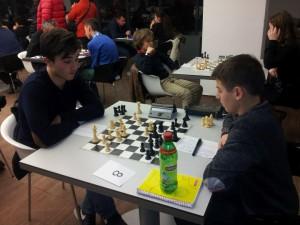 George Ileana (stanga) vs Iustin Ciorgovean (dreapta) la Memorialul Mircea Radulescu - Cluj Napoca martie 2015